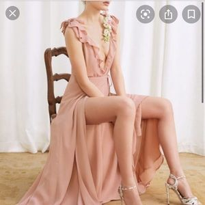 Reformation Peppermint Dress in Blush